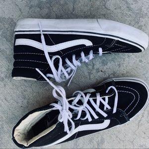 VANS SK8-Hi black white Classic hi-top sneaker 6.5